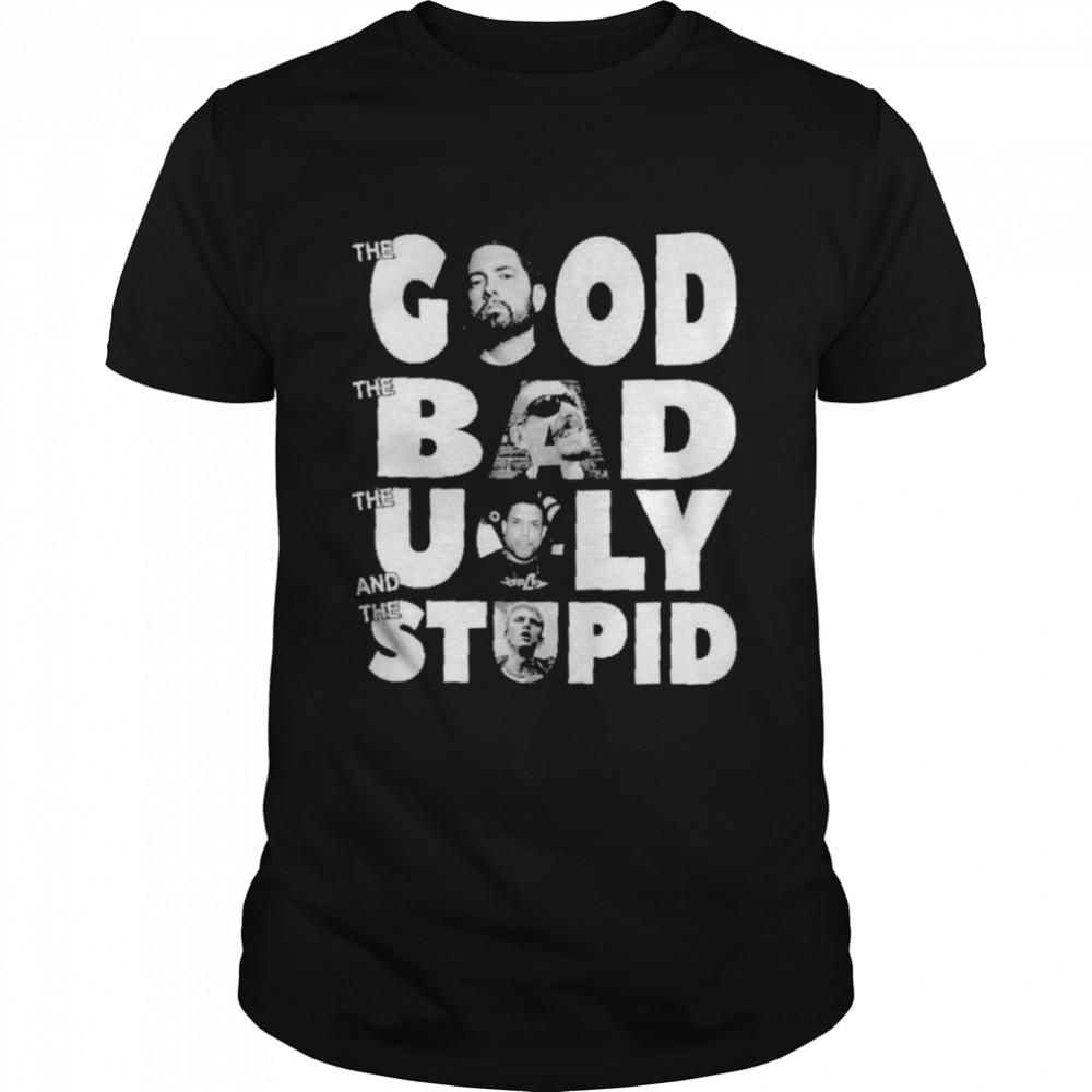 Eminem the Good LL Cool Benzino the bad The ugly and Machine Gun the stupid shirt Classic Men's T-shirt