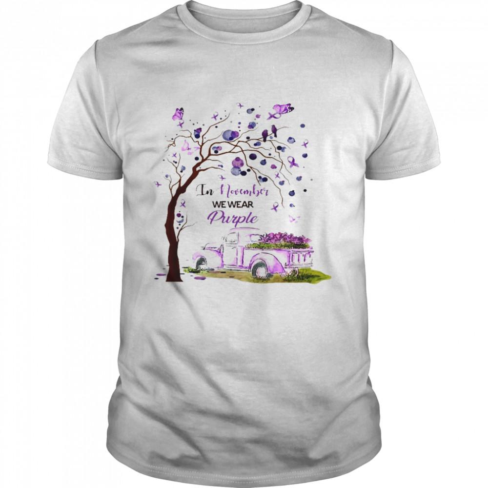 In november we wear purple shirt Classic Men's T-shirt