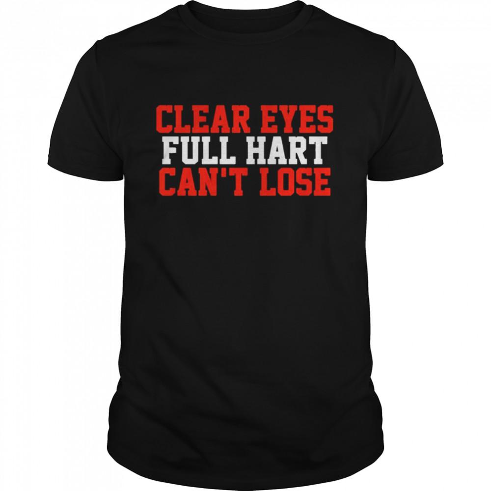 Carter Hart Clear Eyes, Full Hart, Can't Lose  Classic Men's T-shirt