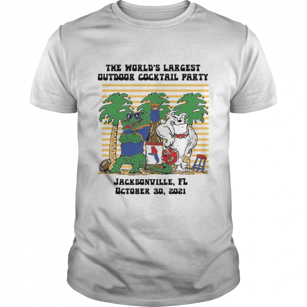 The World's largest outdoor cocktail party Jacksonville Florida shirt Classic Men's T-shirt