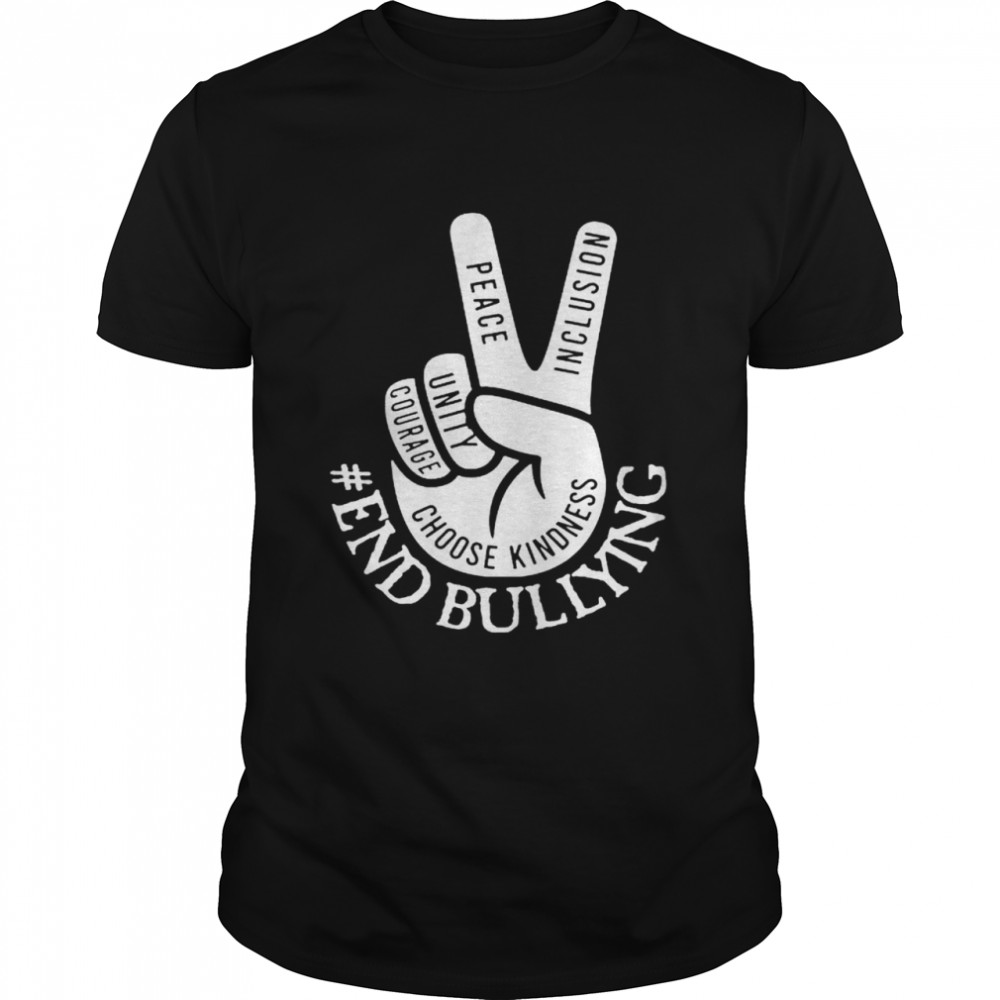 Awesome end bullying peace inclusion unity courage shirt Classic Men's T-shirt