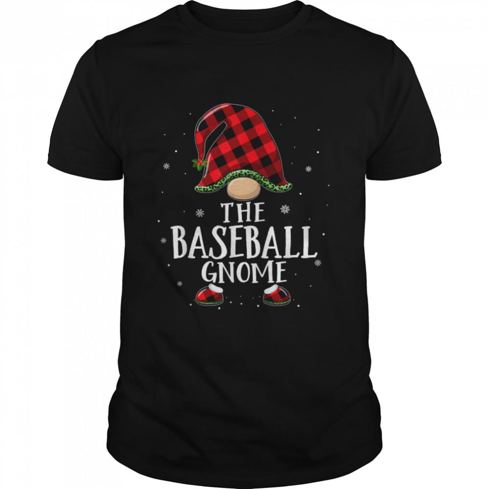 Baseball Gnome Plaid Matching Family Christmas Pajama T- Classic Men's T-shirt