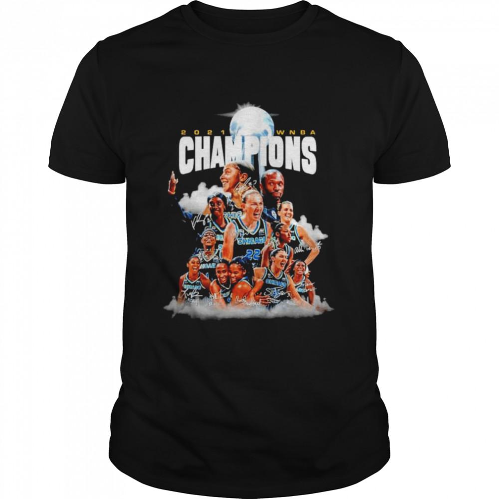 Chicago Sky 2021 WNBA Champions signatures T-shirt Classic Men's T-shirt
