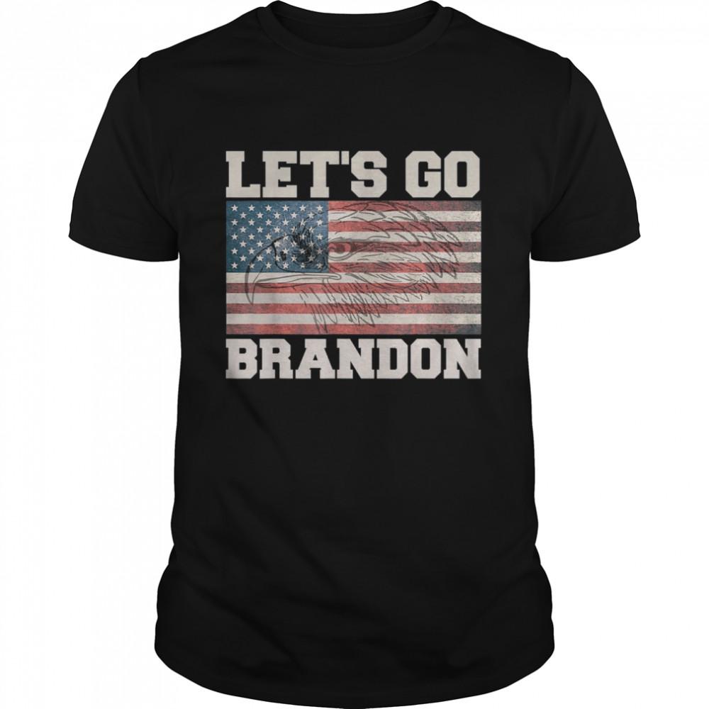 Let's Go Brandon Chant American Flag Eagle  Classic Men's T-shirt