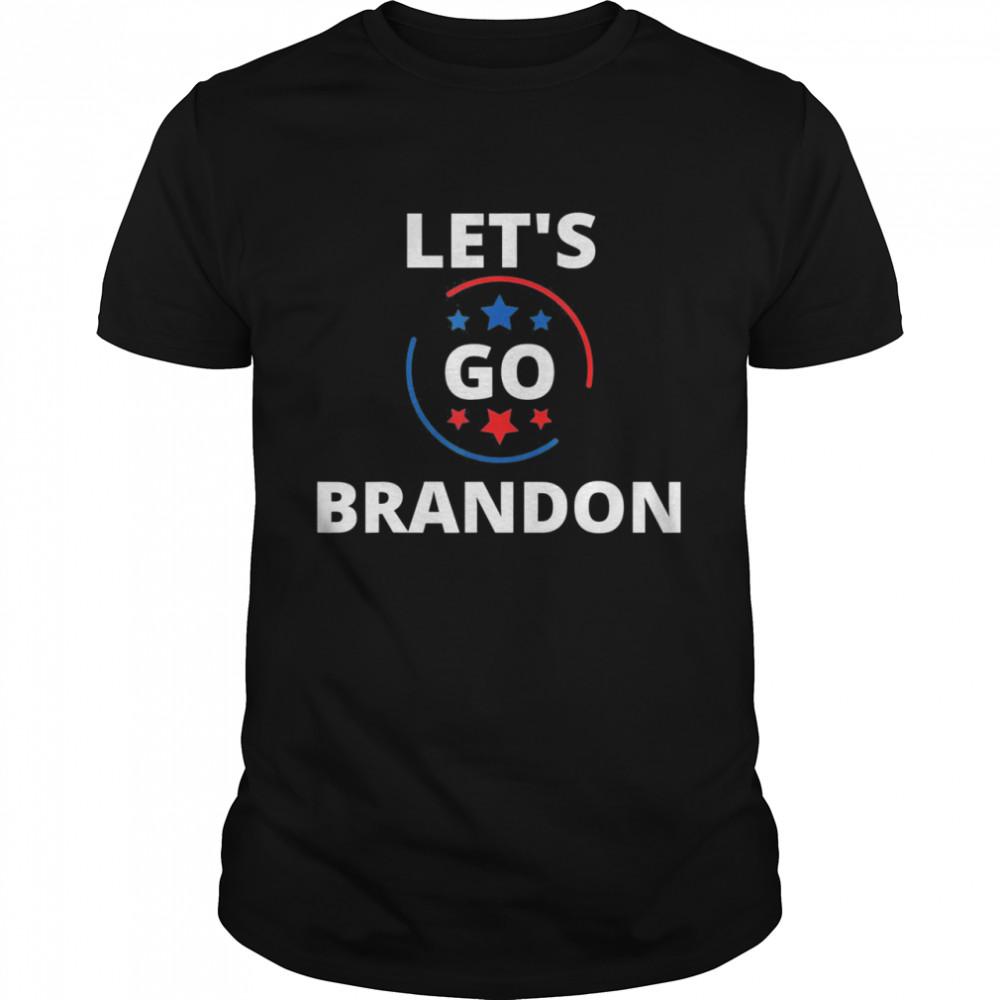 Let's Go Brandon Chant Joe Biden Impeach Biden USA Stars  Classic Men's T-shirt