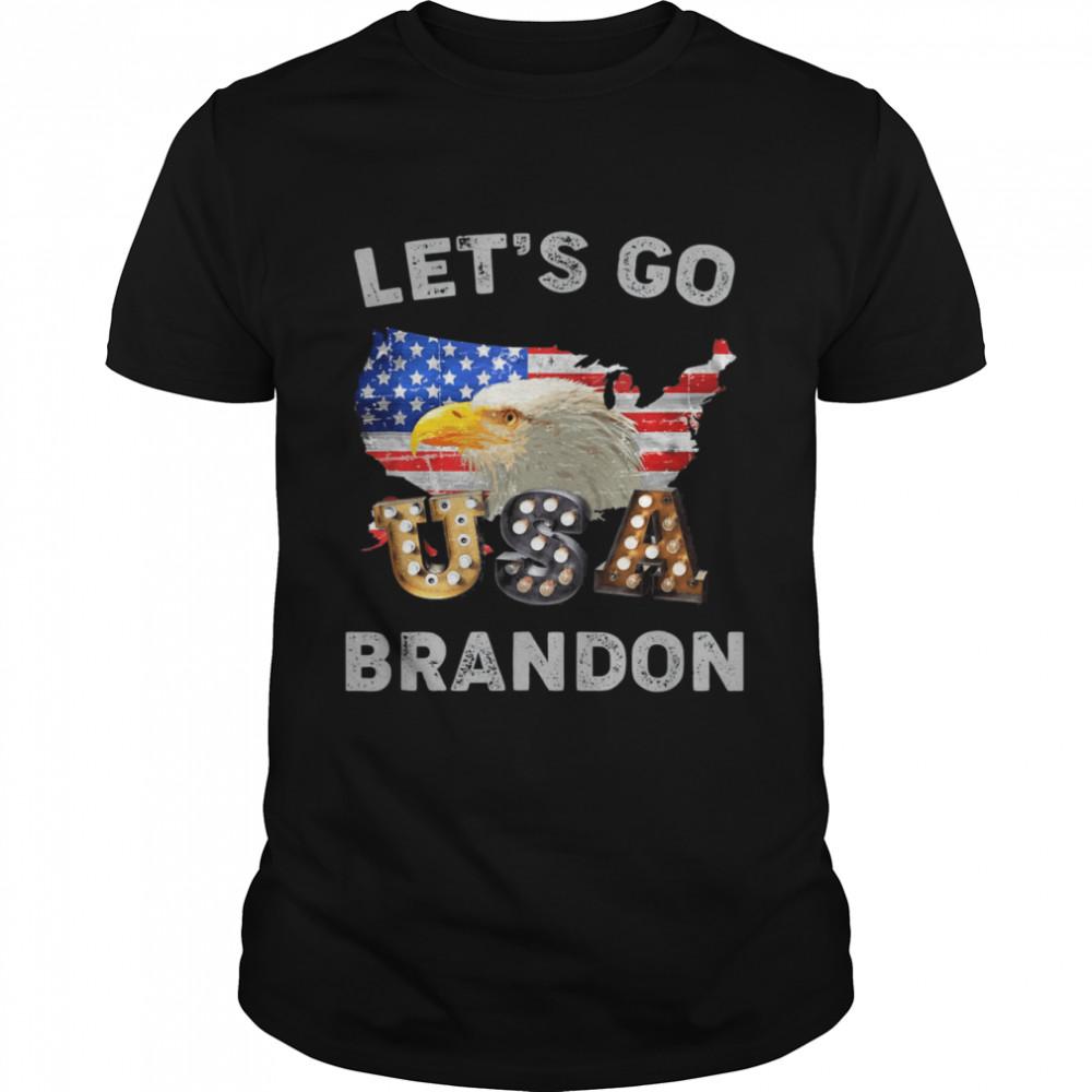 Let's Go Brandon Conservative Eagle US Flag  Classic Men's T-shirt