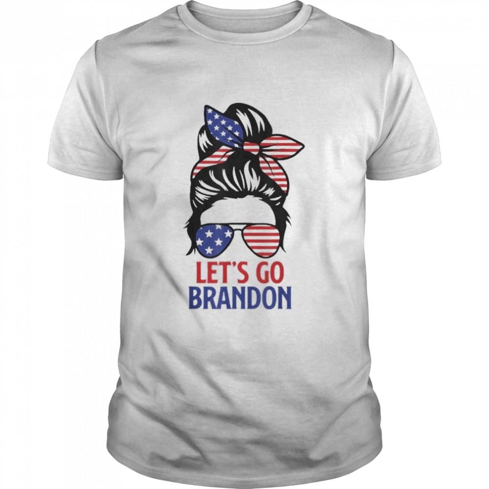 Messy Bun Let's Go Brandon Chant Funny Biden Political shirt Classic Men's T-shirt