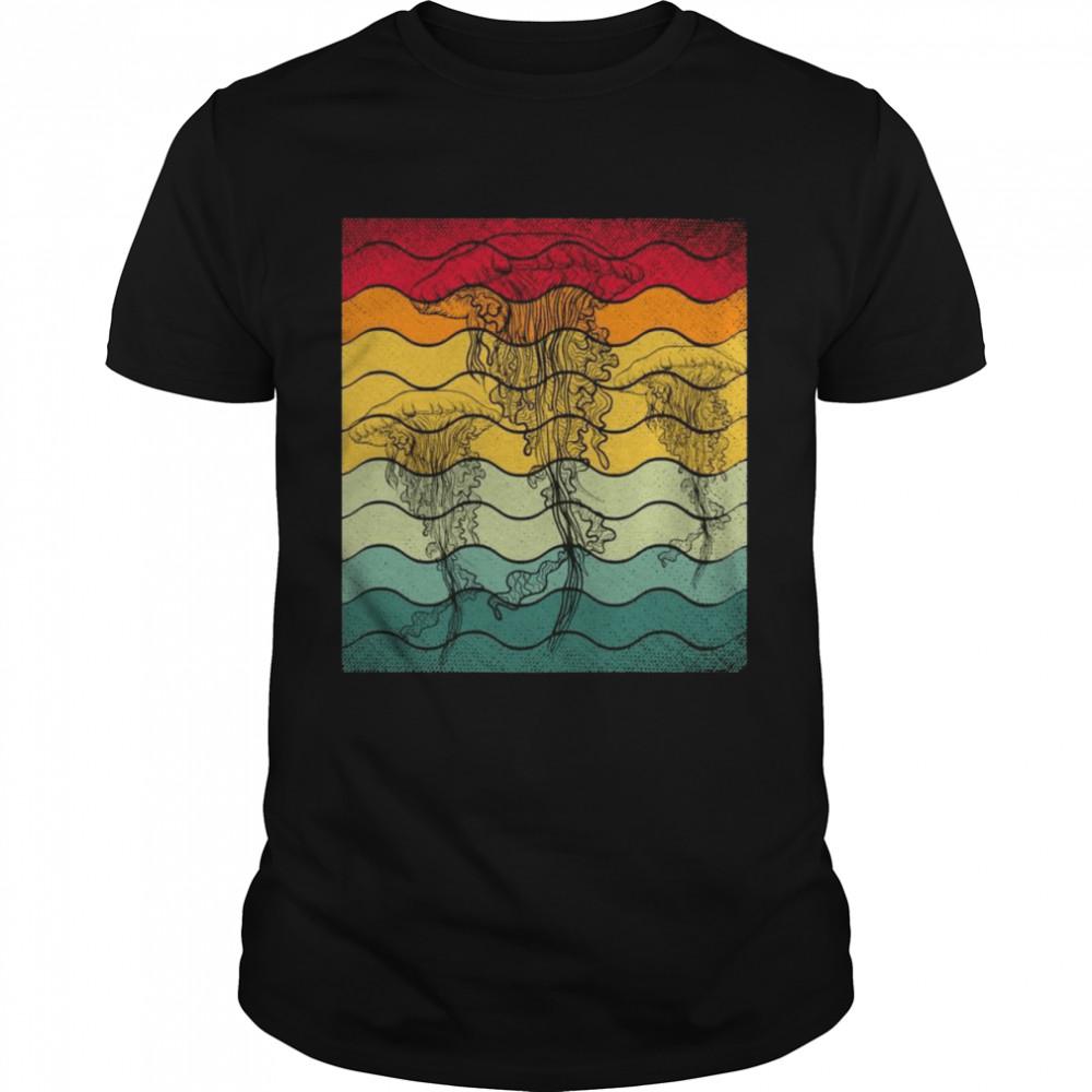 Retro Jellyfish Sea Animals Scuba Diving  Classic Men's T-shirt