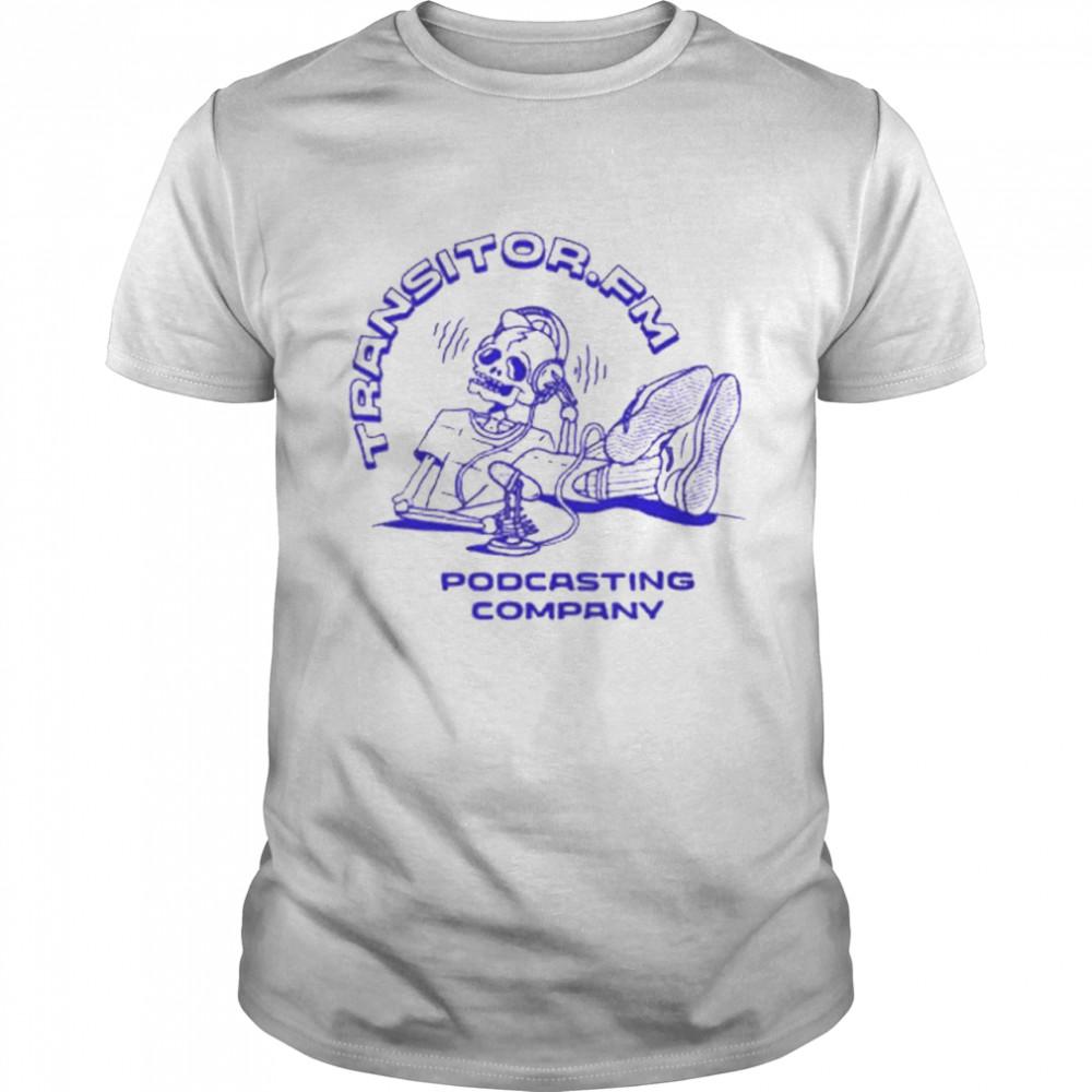 Skeleton Transistor Fm Podcasting Company  Classic Men's T-shirt