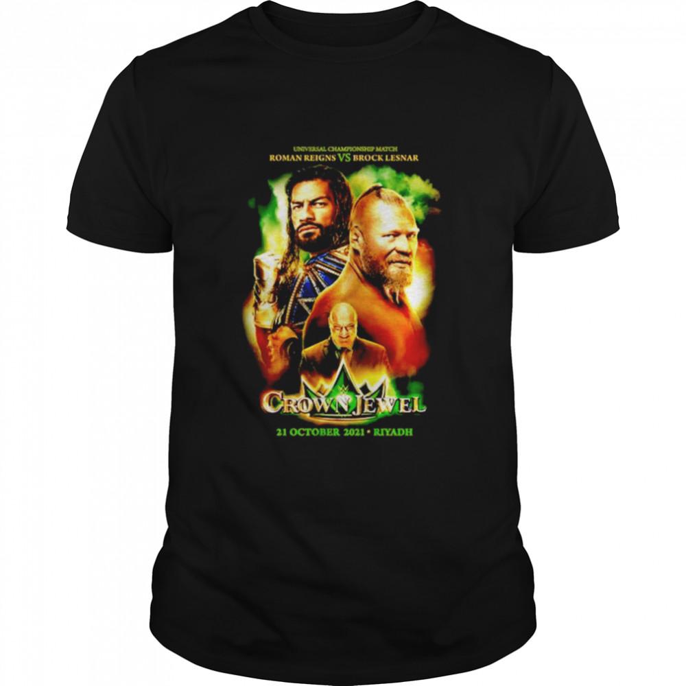 Crown Jewel 2021 Event universal Championship match Roman Reigns vs Brock Lesnar shirt Classic Men's T-shirt
