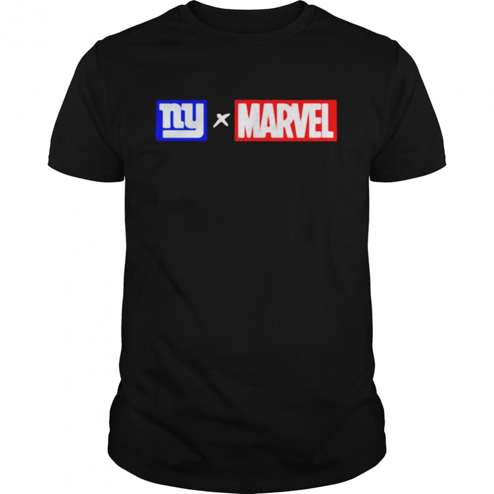 New York Giants NY x Marvel  Classic Men's T-shirt