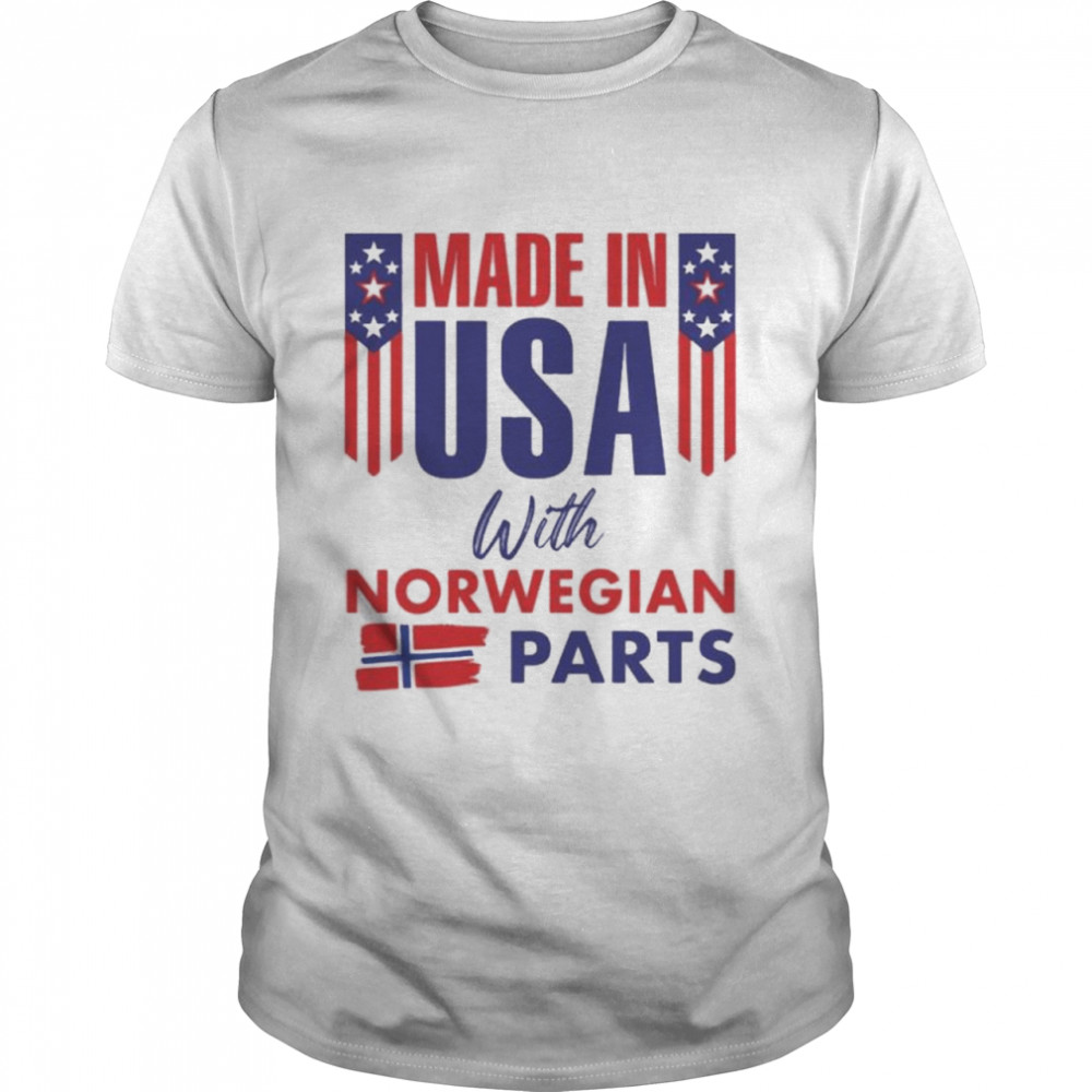 Made In USA With Norwegian Parts  Classic Men's T-shirt