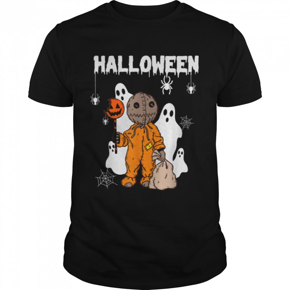 Hello Boo Trick Or Treat Spooky Funny Halloween T- B09JSFM3JS Classic Men's T-shirt