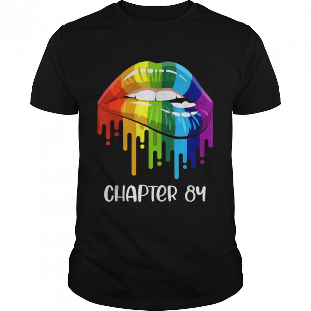 LGBT just married engaged Lesbian Mrs & Mrs est. 84 T- B09JYP8JL9 Classic Men's T-shirt
