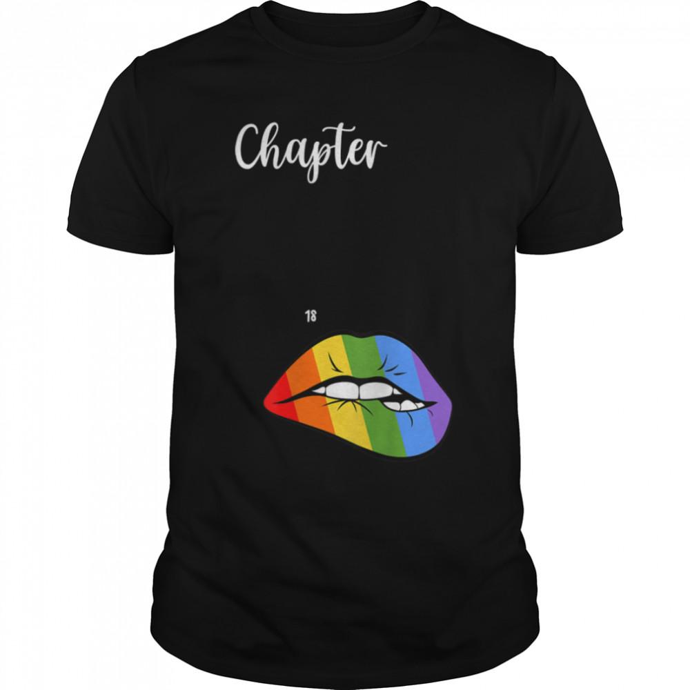 LGBT sexy lips rainbow chapter 18 Birthday celebration T- B09JZWBFTJ Classic Men's T-shirt