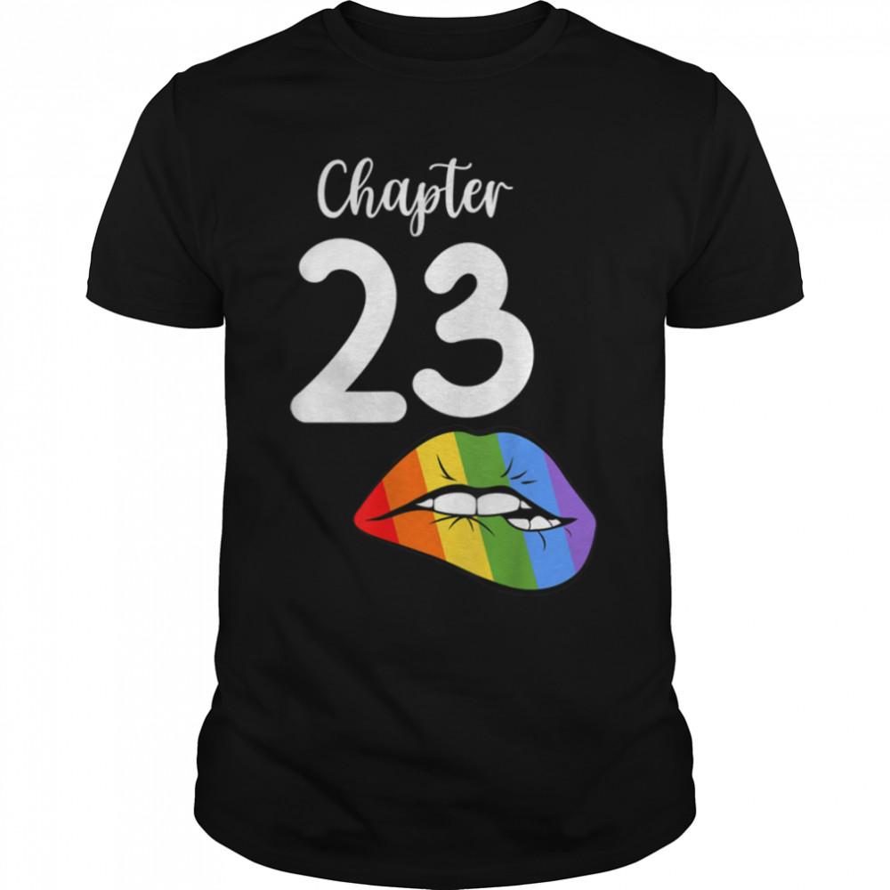 LGBT sexy lips rainbow chapter 23 Birthday celebration T- B09K19FKWX Classic Men's T-shirt