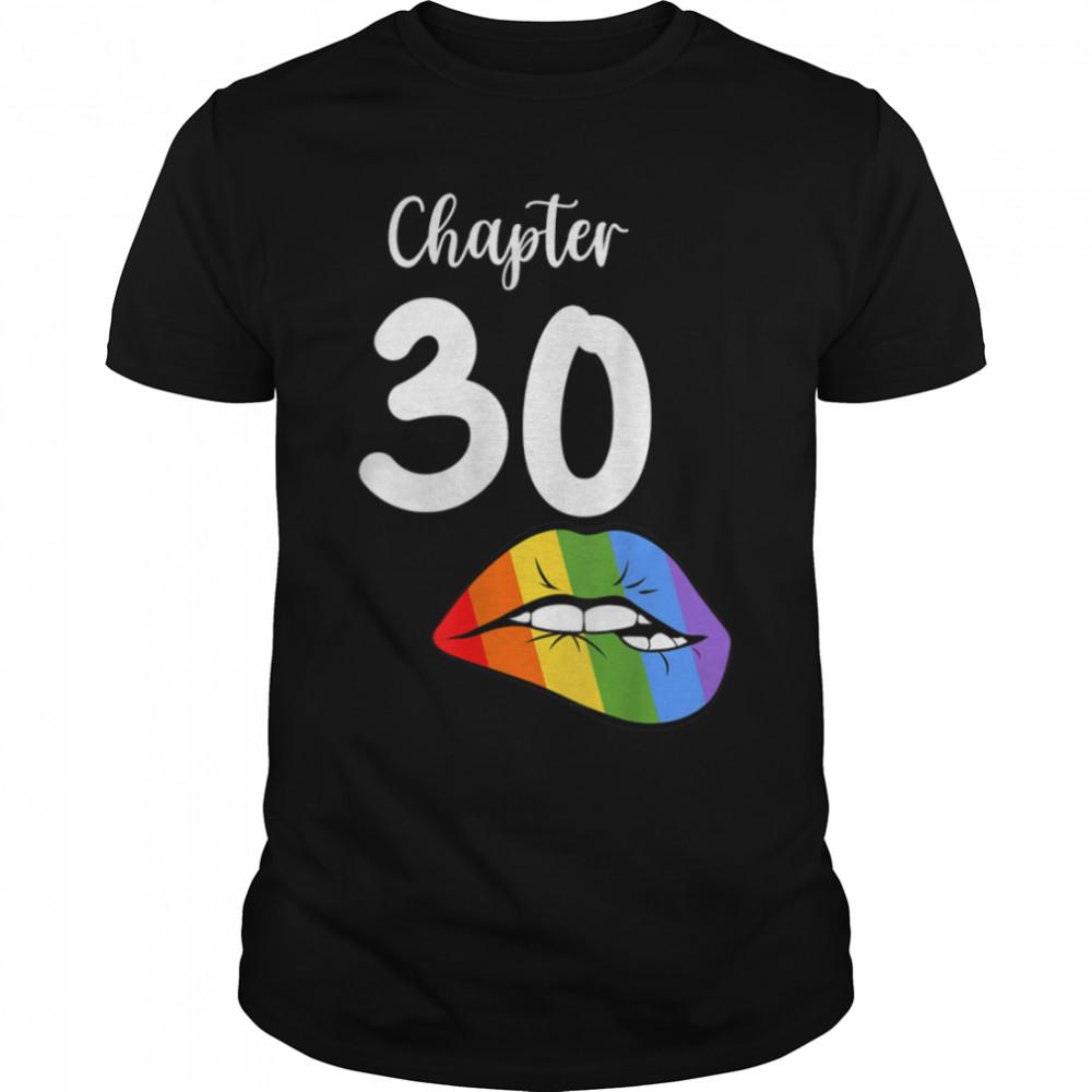 LGBT sexy lips rainbow chapter 30 Birthday celebration T- B09JZYFS3C Classic Men's T-shirt