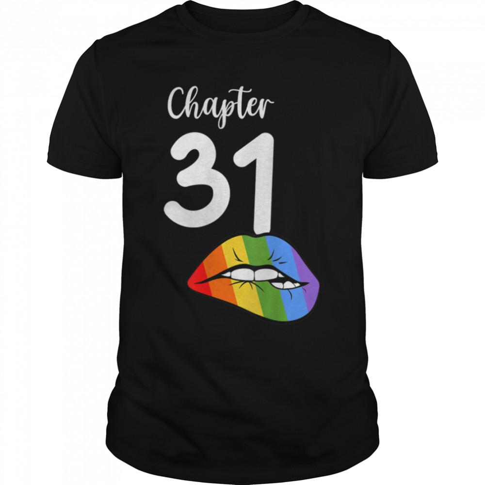 LGBT sexy lips rainbow chapter 31 Birthday celebration T- B09JZXKX5D Classic Men's T-shirt