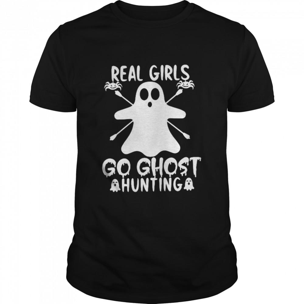 Boo real girls go ghost hunting shirt Classic Men's T-shirt