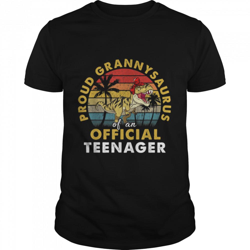 Proud Grannysaurus Official Teenager 13th Birthday Dinosaur T- B09JVXGGKH Classic Men's T-shirt